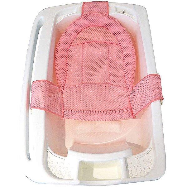Rede Protetora De Banho Banheira Bebê +0 Meses Infantil Redutor Kababy Rosa