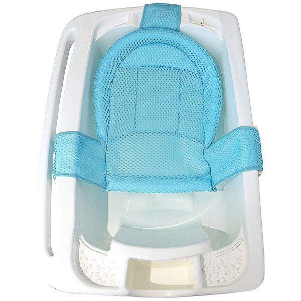 Rede Protetora De Banho Banheira Bebê +0 Meses Infantil Redutor Kababy Azul