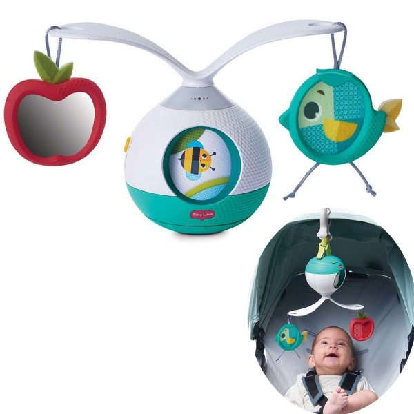 Mobile Musical Berço Bebê Brinquedo Infantil Carrinho Bebê Conforto 2 em 1 Animador Tummy Time Meadom Days