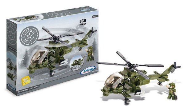 Blocos de Montar Aliança Justiça e Paz Helicóptero Lança Míssil 10143 Xalingo