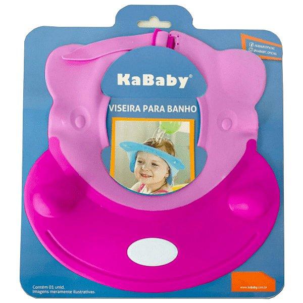 Viseira Ajustável para Banho do Bebê KaBaby Rosa