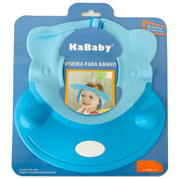 Viseira Ajustável para Banho do Bebê KaBaby Azul