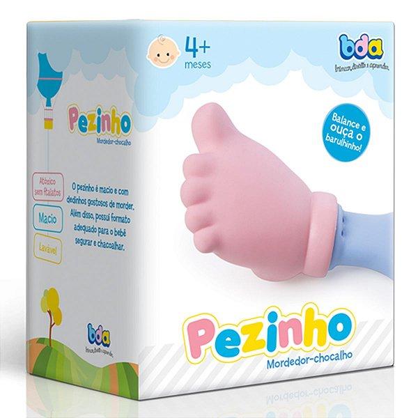 Mordedor E Chocalho Para Bebê Pézinho BDA +3 Meses - Toyster