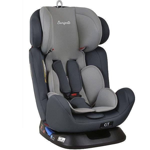 Cadeirinha de Bebê Auto 0 a 36 Kg Reclinavel Ajustável Grupo 0+ I, II, III, Bebê Conforto GT Burigotto Gray