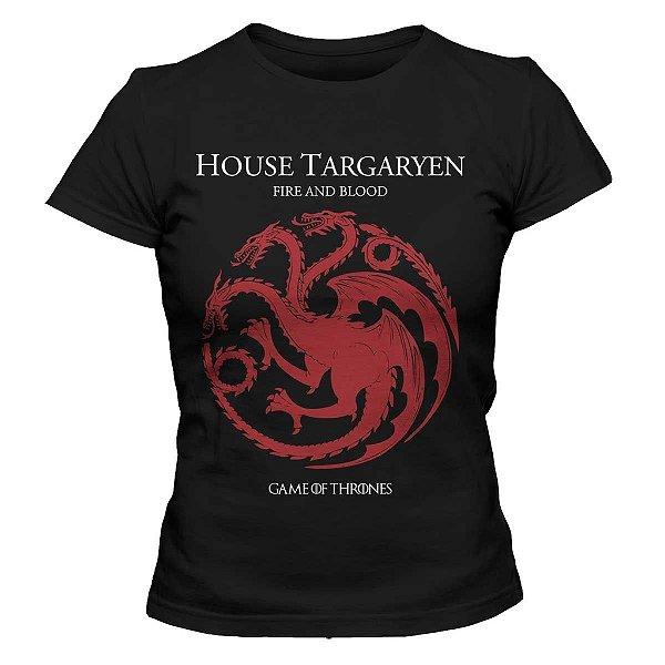 Camiseta Feminina Game of Thrones - House Targaryen