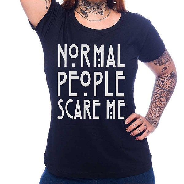 Camiseta Feminina American Horror Story - Normal People Scare Me