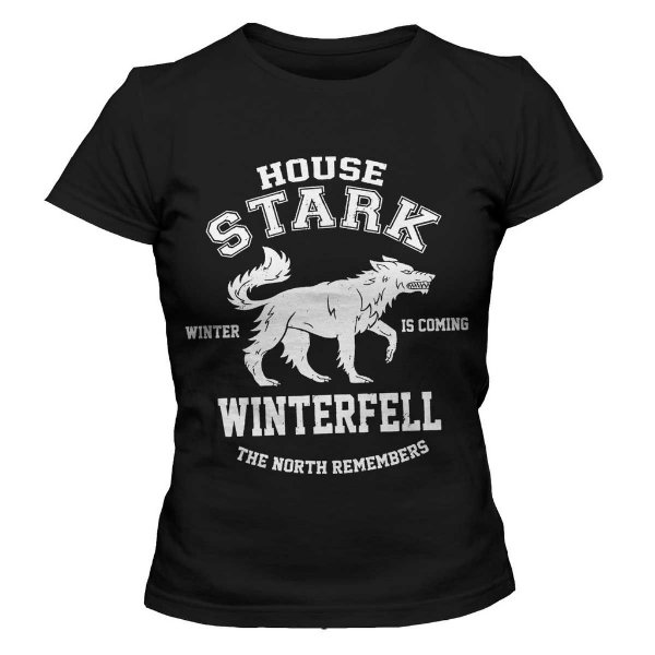 Camiseta Feminina Game of Thrones - House Stark Winterfell