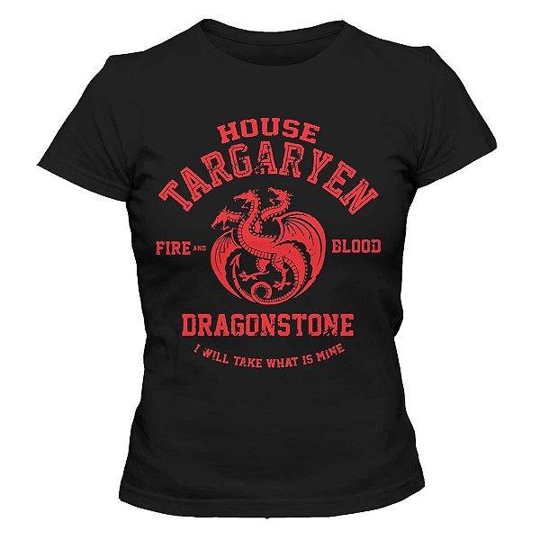 Camiseta Feminina Game of Thrones - House Targaryen Dragonstone