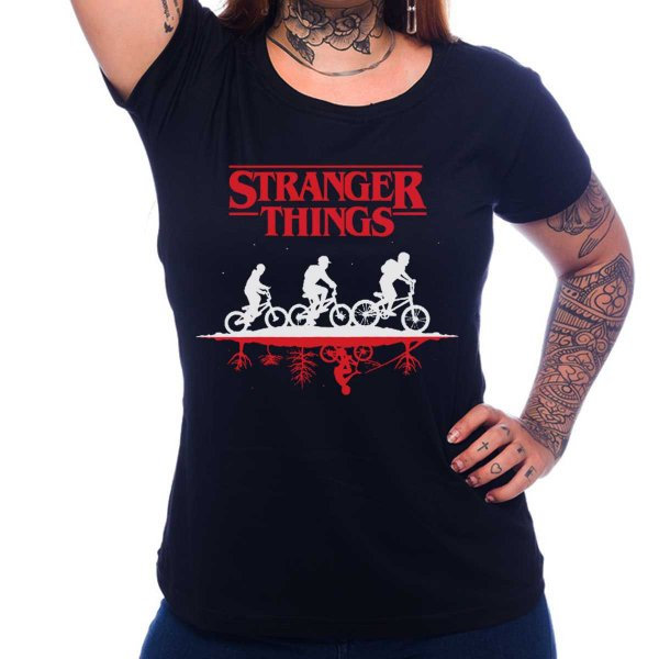 Camiseta Feminina Stranger Things - Upside Down