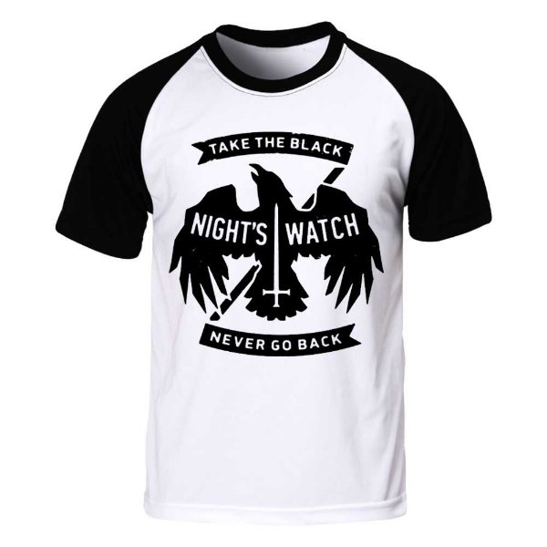 Camiseta Raglan Game of Thrones - Nights Watch