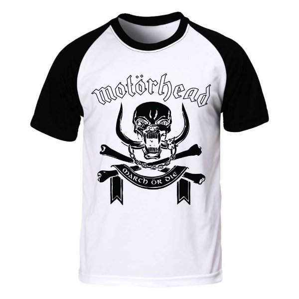 Camiseta Raglan Motörhead - March or Die