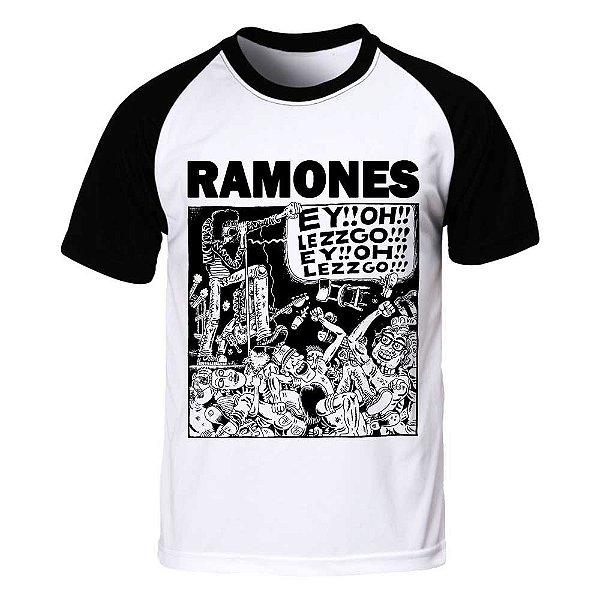 Camiseta Raglan Ramones - Let's Go