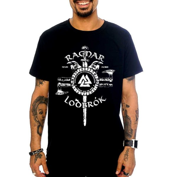 Camiseta Vikings - Ragnar Lothbrok