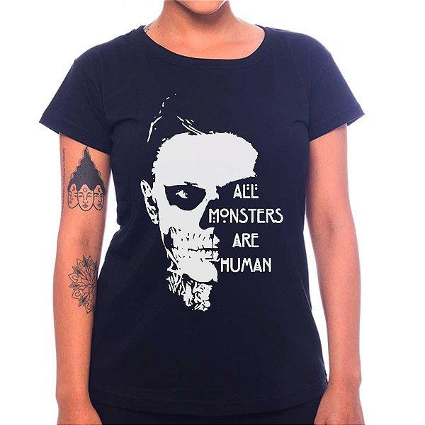 Camiseta Feminina American Horror Story - All Monsters