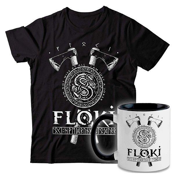 Kit Camiseta + Caneca Vikings - Floki