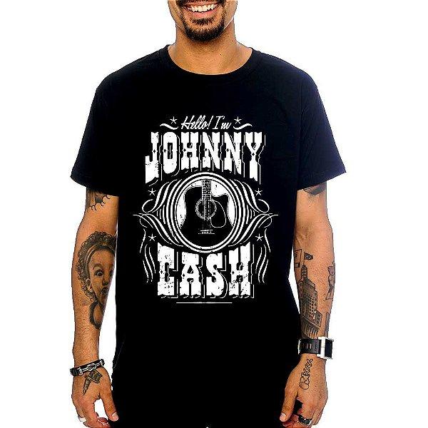 Camiseta Johnny Cash - Hello