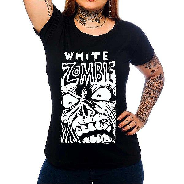 Camiseta Feminina  White Zombie - Zombie