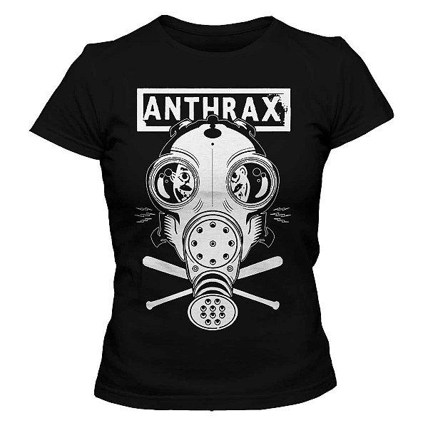 Camiseta Feminina  Anthrax - Mask