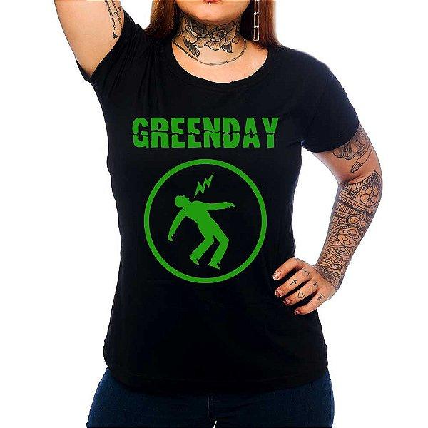 Camiseta Feminina Green Day - Warning