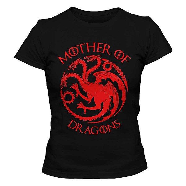 Camiseta Feminina Game of Thrones - Mother of Dragons 2