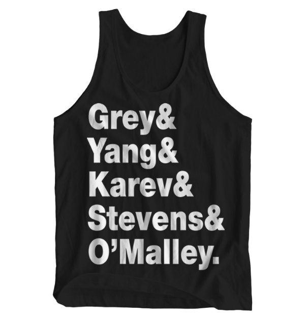 Regata Masculina Grey's Anatomy - Letters