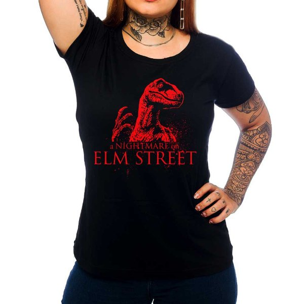 Camiseta Feminina Nightmare on Raptor Street