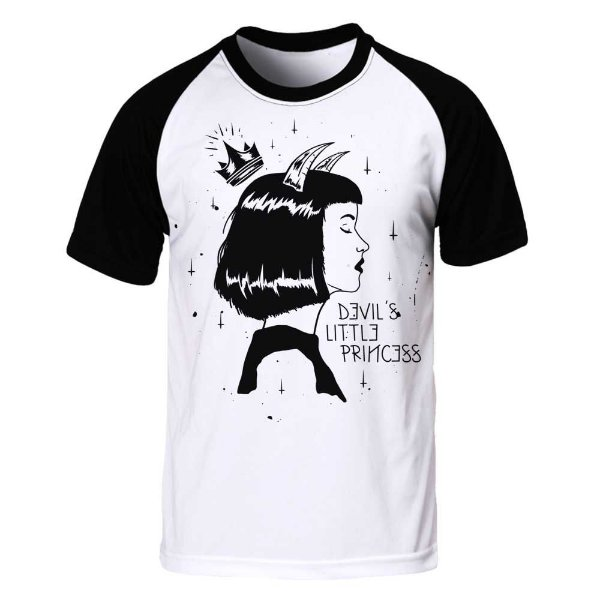 Camiseta Raglan Devil Little Princess