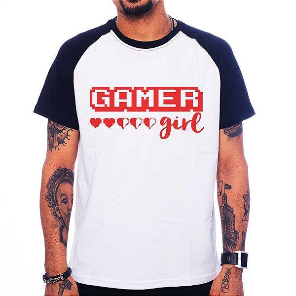 Camiseta Raglan Gamer Girl