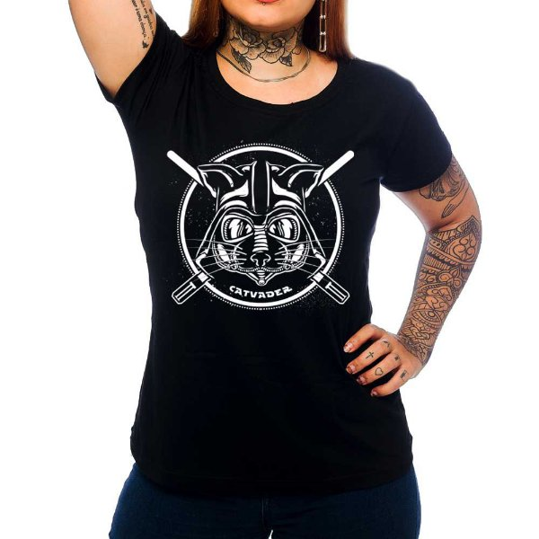 Camiseta Feminina Cat Vader