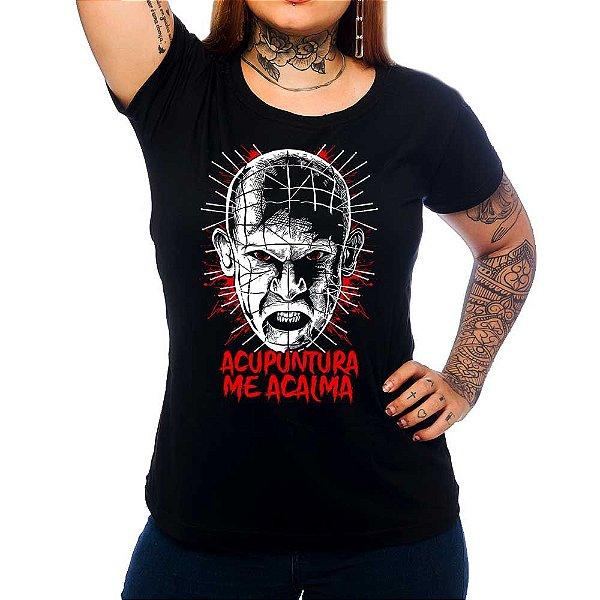 Camiseta Feminina Acupuntura Me Acalma