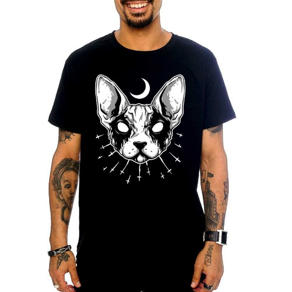 Camiseta Black Metal Cat