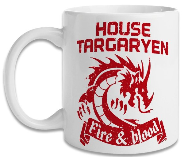 Caneca Game of Thrones Fire And Blood