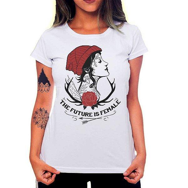 Camiseta Feminina Future is female Girl - Branco - P