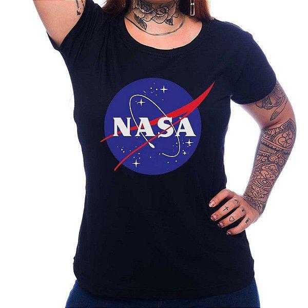 Camiseta Feminina Nasa - Preto - GG