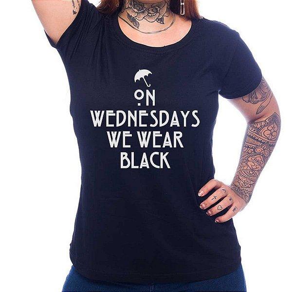 Camiseta Feminina We Wear Black - Preto - GG