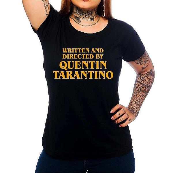 Camiseta Feminina Quentin Tarantino - Preto - GG