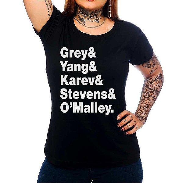 Camiseta Feminina Grey's Anatomy letters - Preto - GG