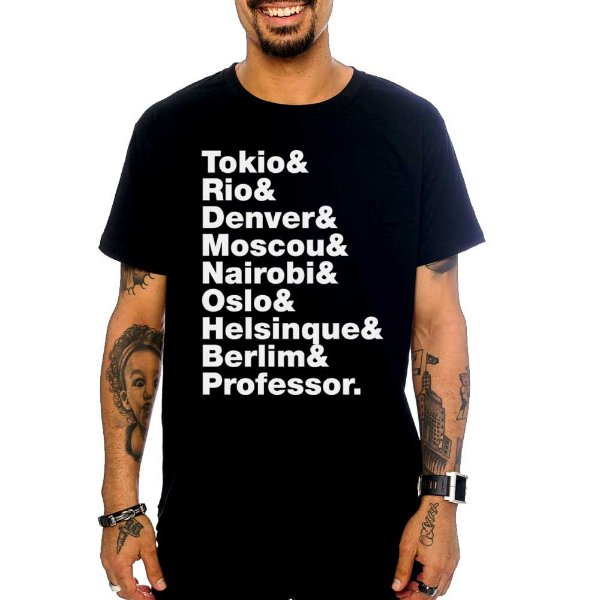 Camiseta La Casa de Papel - Preto - P