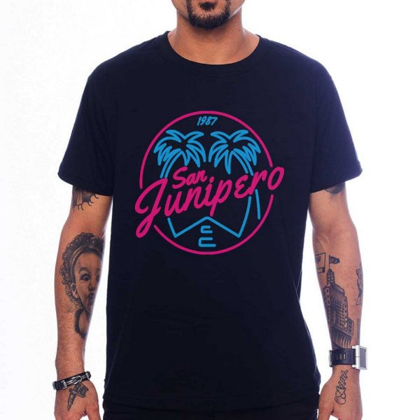 Camiseta San Junipero - Preta - M
