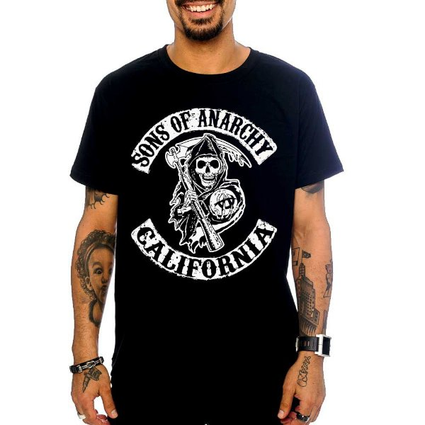 Camiseta Sons of Anarchy - Preta - GG