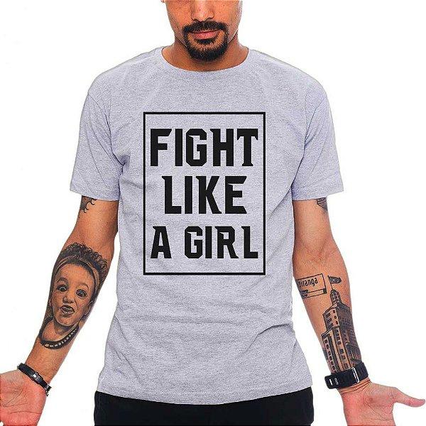 Camiseta Fight Light a Girl - Cinza - GG
