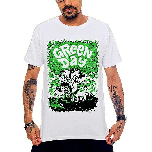 Camiseta Green Day Dog - Branco - G