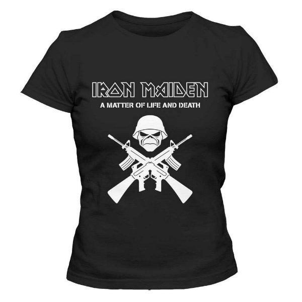 Camiseta Feminina - Iron Maiden - Preta - G