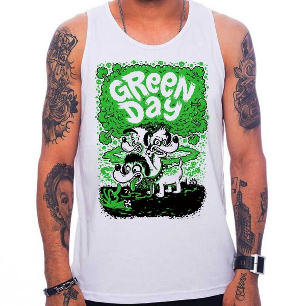 Regata Green Day Dog - Branca - P