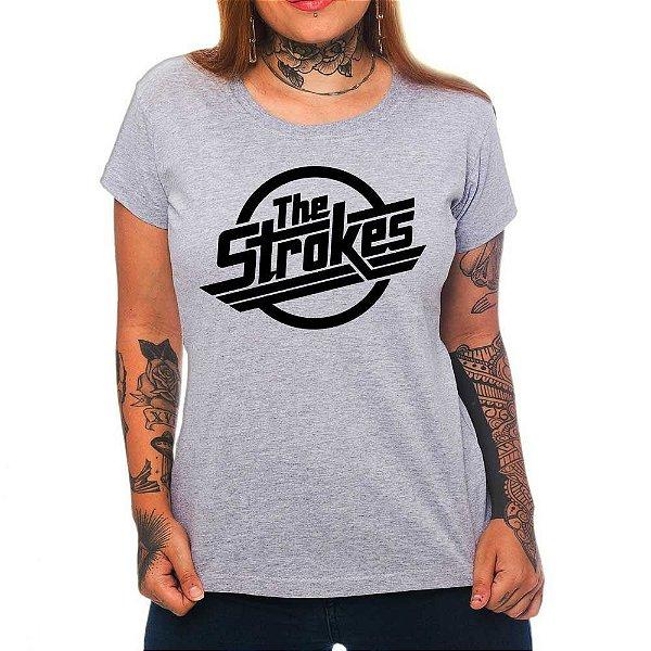 Camiseta Feminina - The Strokes - Cinza - P
