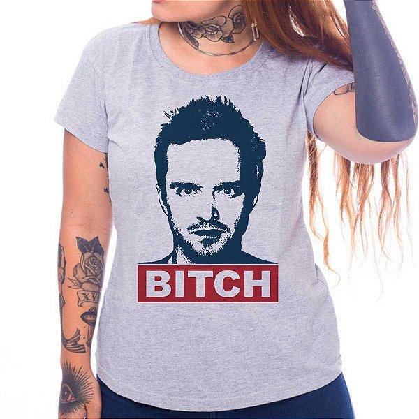 Camiseta Feminina - Jesse Pinkman - Cinza - GG
