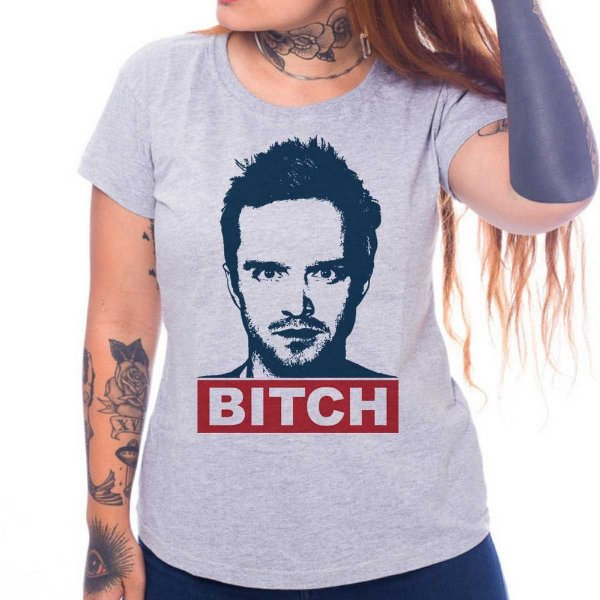 Camiseta Feminina - Jesse Pinkman - Cinza - M