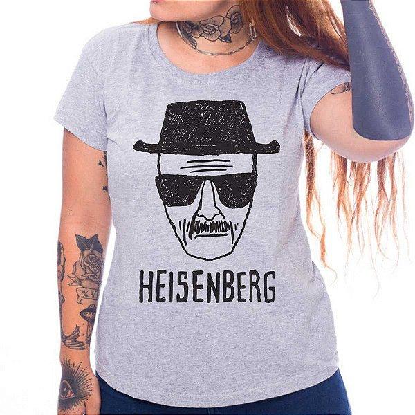 Camiseta Feminina - Heisenberg  - Cinza - P