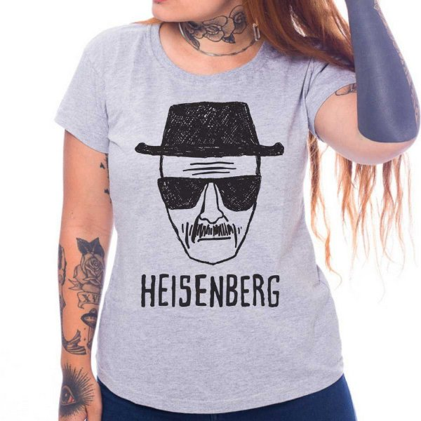 Camiseta Feminina - Heisenberg  - Cinza - M