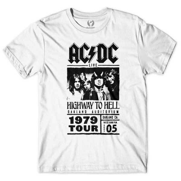 Camiseta AC/DC - Highway To Hell Tour